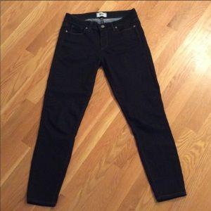 PAIGE Denim Verdugo Ankle Dark Jeans, Size 30